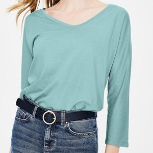 NWT -- Boden Supersoft 3/4 Sleeve Tee -- Aqua
